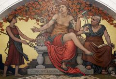 Detail from the 1896 mural, Corrupt Legislation, by Elihu Vedder at the Library of Congress. Photo courtesy of Wikimedia Commons.